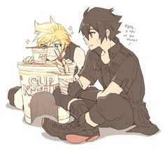 FFXV Cup Noodles Noctis and Prompto