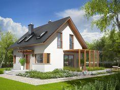 Projekt domu AC Lea (wersja B) CE - DOM - gotowy koszt budowy Home Fashion, Pergola, Exterior, House Design, Cabin, Mansions, House Styles, Outdoor Decor, African Fashion