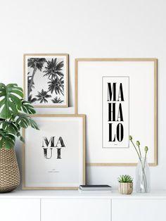 Living Room Prints, Living Room Decor, Palm Tree Print, Palm Trees, Hawaiian Decor, Hawaii Homes, Nature Prints, Cool Walls, Printable Wall Art