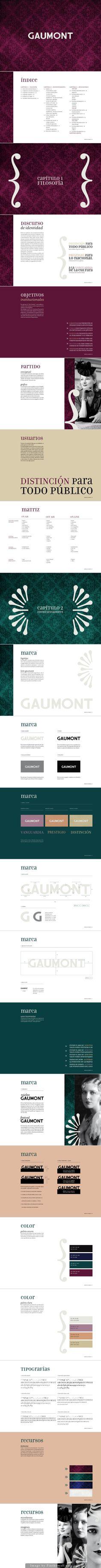 Manual de marca - cine gaumont - florencia bello - https://www.behance.net/gallery/10353443/manual-corporativo