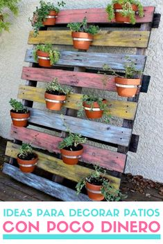 If you are looking for Diy Projects Pallet Garden Design Ideas, You come to the right place. Below are the Diy Projects Pallet Garden Design Ideas. Jardim Vertical Diy, Vertical Garden Diy, Vertical Gardens, Vertical Planter, Wood Pallet Planters, Diy Planters, Garden Planters, Planter Ideas, Wooden Pallets
