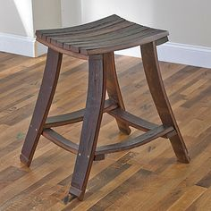 Charming Wine Barrel Stave Rectangle Seat