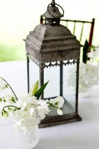 Hobby Lobby has a very cool selection of lanterns - similar to this...