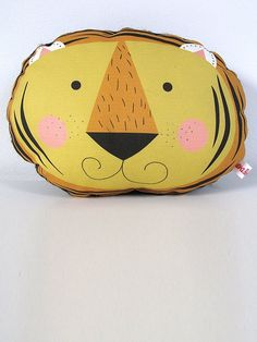 Yellow Tiger Cushion by Ava & Yves