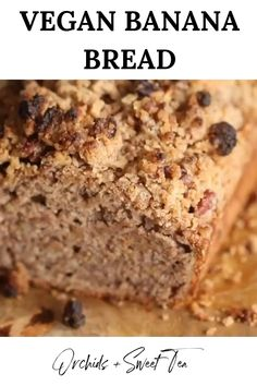 egan Cinnamon Crunch Banana Bread that is perfectly sweet and moist, is balanced between tender and crunchy, and 100% delicious! It takes less than 10 minutes to whip together and makes for a great healthy alternative for a little sweetness in the morning for breakfast or even for dessert.