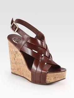 6b5a3484966e8 Tory Burch - Ace Slingback Leather and Cork Wedge Platform Sandals -
