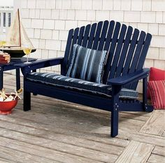 Adirondack chair is the classic summer seating; here's a selection of what's available in Adirondack chairs. Adirondack Furniture, Lawn Furniture, Adirondack Chairs, Outdoor Furniture, Outdoor Couch, Outdoor Living, Outdoor Decor, Wooden Couch, Beach Chairs