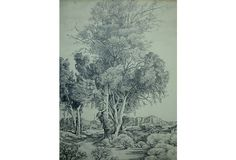 Pencil Drawing of a Landscape on OneKingsLane.com