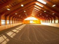 Beautiful riding area in stables near Wellington, Florida.