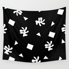 Buy Black and white minimal linocut pattern graphic scandi design tropical leaf Wall Tapestry by monoo. Worldwide shipping available at Society6.com. Just one of millions of high quality products available.