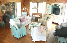 Our Home - the little farm diary -  decorate the inside of the armoire!