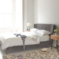 Smoke - Contemporary Upholstered Beds | Loaf