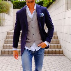 Little Boy Fashion Mode Outfits, Casual Outfits, Men Casual, Fashion Outfits, Dandy Look, Mode Man, Look Blazer, Herren Outfit, Light Blue Shirts