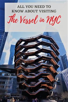 The Vessel is the city's newest attraction, that's worth putting on your NYC itinerary. The unique structure is also one of the free things to do in New York City. Here's all you need to know about visiting and climbing the Vessel. #Vessel #NYC #freeinNYC