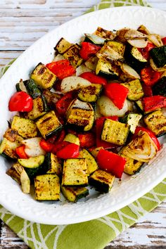 World's Easiest Grilled Vegetables (How to Cook Vegetables on the Grill) found on KalynsKitchen.com