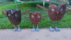 a family of owls check us out on facebook Pop's Art & Co