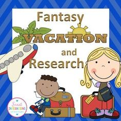Let your students enjoy this fun PBL writing unit where they plan a fantasy vacation for their family. It's a great end of year or back to school activity! End Of Year Activities, Writing Activities, Writing Skills, Daily Activities, Summer Activities, Math Projects, School Projects, School Ideas, Project Based Learning