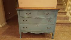 Old dresser chalk painted