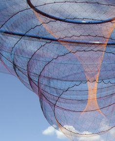 janet echelman fabric sculpture