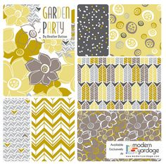Garden Party Collection - Sultry Breeze Cw by Heather Dutton @Modern Yardage