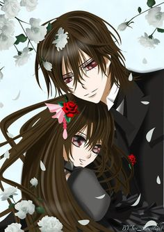Kaname acting as Yuki's protector. Blade and the Cullens from Twilight may be the only protective vampires in the West.