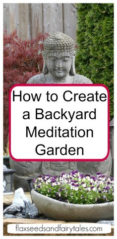 Create your own peaceful backyard meditation garden with this step-by-step guide. It will show you how to DIY a meditation garden outdoors for ultimate serenity.