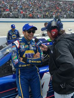 Chase talking to MRN after the Dover race
