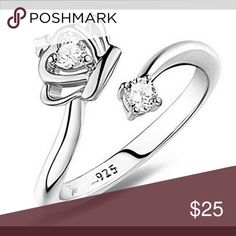 NWT 925 Sterling silver ring It is adjustable, so you can make it any size you want. It's 925 Sterling silver. Jewelry