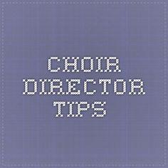 lds choir director tips