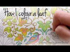 How I Colour A Leaf Part 1 Blending Colours Enchanted Forest