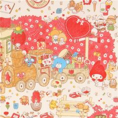 light cream Hello Kitty My Melody toy item oxford fabric 5