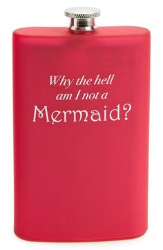 "Free shipping and returns on Barbuzzo 'Why Am I Not a Mermaid?"" Flask at Nordstrom.com. A sassy hip flask asks the important questions while providing a convenient way to wet your whistle."