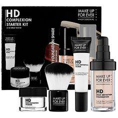 Make Up For Ever Professional Complexion Kit--good for a photoshoot or whenever you know you're going to be in front of a camera. Makes your skin look flawless!