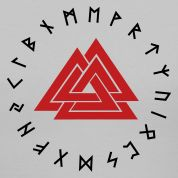 valknut with runic ring