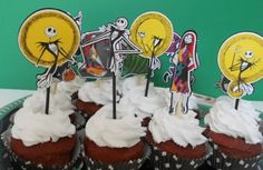 Jack Skellington A Nightmare Before Christmas Cupcake Toppers Halloween Party | eBay