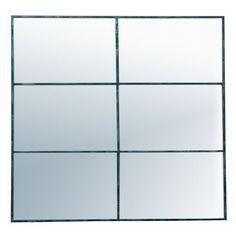 Miroir fenêtre rectangulaire en métal 80x118cm FACTORY