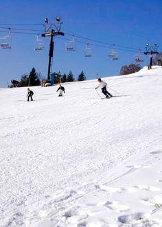 Downhill skiing at Hyland Hills Ski Area