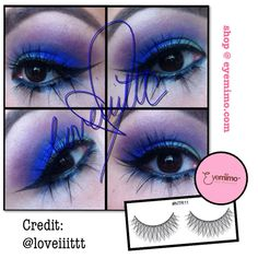 Credit goes to lnstagramer Beauty, @loveiiittt, Los Angeles & Bakersfield, CA based Makeup Artist. To learn more about Love Apostol's makeup service, visit her website at http://www.loveiiittt.com or contact her at MUA.LoveApostol@gmail.com. She wears EYEMIMO eyelashes style NTR11. Eyelashes is available at http://www.eyemimo.com.   Thank you @loveiiittt for making the beautiful blue eye makeup adorn with EYEMIMO eyelashes!
