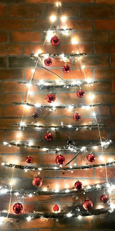 Simple Twig Christmas Tree You can Make in 30 Minutes Twig Christmas Tree, Christmas Room, Christmas Party Games, Christmas Crafts, Christmas Decorations, Christmas Ornaments, Holiday Decor, Twig Tree, Christmas Displays