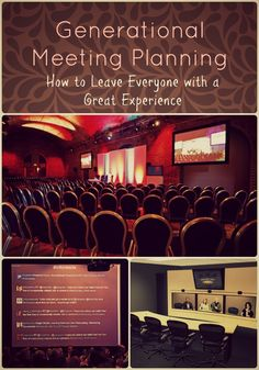 Great blog on how to plan one meeting or event for multiple generations of attendees.