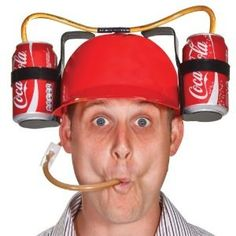 The can Helmet is a necessity for the thirsty. Who are we kidding. This is a must-have for you party animals who plan on going full tilt gonzo at the next party you attend. Whether it's in the backyard, at the beach or in the parking lot, there are a multitude of ways to utilize your perfect drinking tool and funny drinking gadget.    This yellow hard hat is a one size fits most and comes equipped with two can holders and straws with a clip to stop the flow or your drink if you can't keep up…