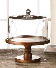 This Madera Pedestal Plate & Dome by Jay Import is perfect! #zulilyfinds