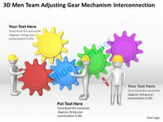 3D Men Team Adjusting Gear Mechanism Interconnection Ppt Graphics Icons Powerpoint 0529 #Powerpoint #Templates #Infographics