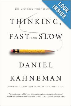 Nobel Prize winner Daniel Kahneman's newest book, Thinking, Fast and Slow, is an outstandingly clear and precise study of the 'dual-process model of the brain, our emotional bias and our embedded self-delusion.' A must-read for anyone intrigued about how we make decisions.