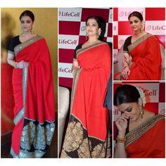 Bollywood Replica - Aishwarya Rai in Sabyasachi Designed Saree at Lifecell Press Meet - 333 (IB-501)
