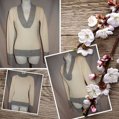 Grane Acrylic Colorblock Gray/White Sweater Sz S Grane Acrylic Colorblock Gray/White Sweater Sz S 100% Soft Acrylic. Bust 34. Sleeves 24. Shoulder to hem 21. Grane Sweaters V-Necks