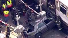 Unmarked police car runs gate, collides with Brown Line train; expect delays - Chicago Sun-Times