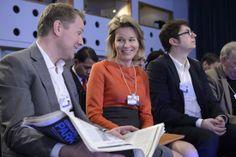 Matilde de Bélgica en el Foro de Davos