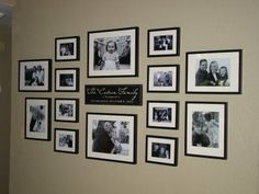 Image result for photo wall ideas