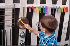 DIY Music Fence - this is such a cute idea. I bet the neighbours would love it… Summer Crafts For Kids, Summer Kids, Kids Crafts, Music Activities, Activity Games, Kid Friendly Backyard, Backyard For Kids, Backyard Ideas, Home Daycare